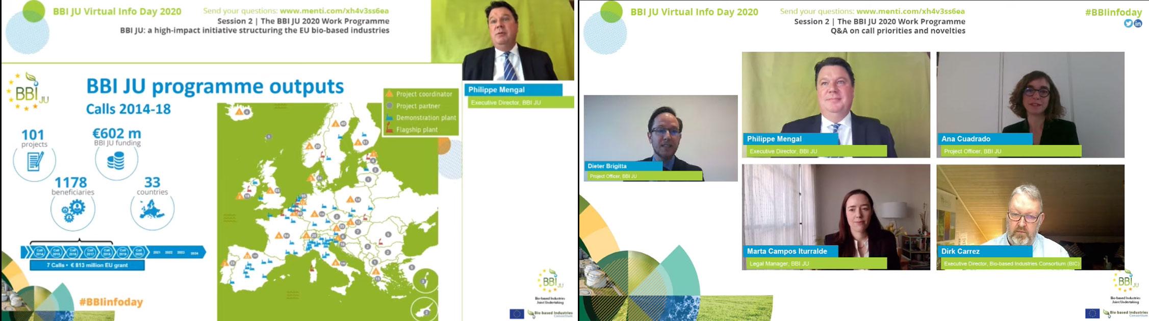 Momentos de la presentación del Info-day de BBI JU del pasado 22 de abril.