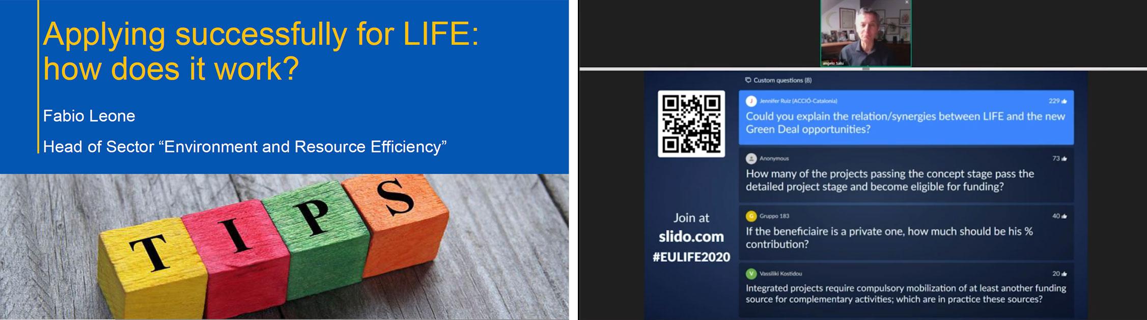 Presentación del Info-day del Programa LIFE y resolución de dudas.