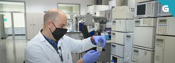 Fotograma reportaje proyecto I+D+i Biopol en TVG